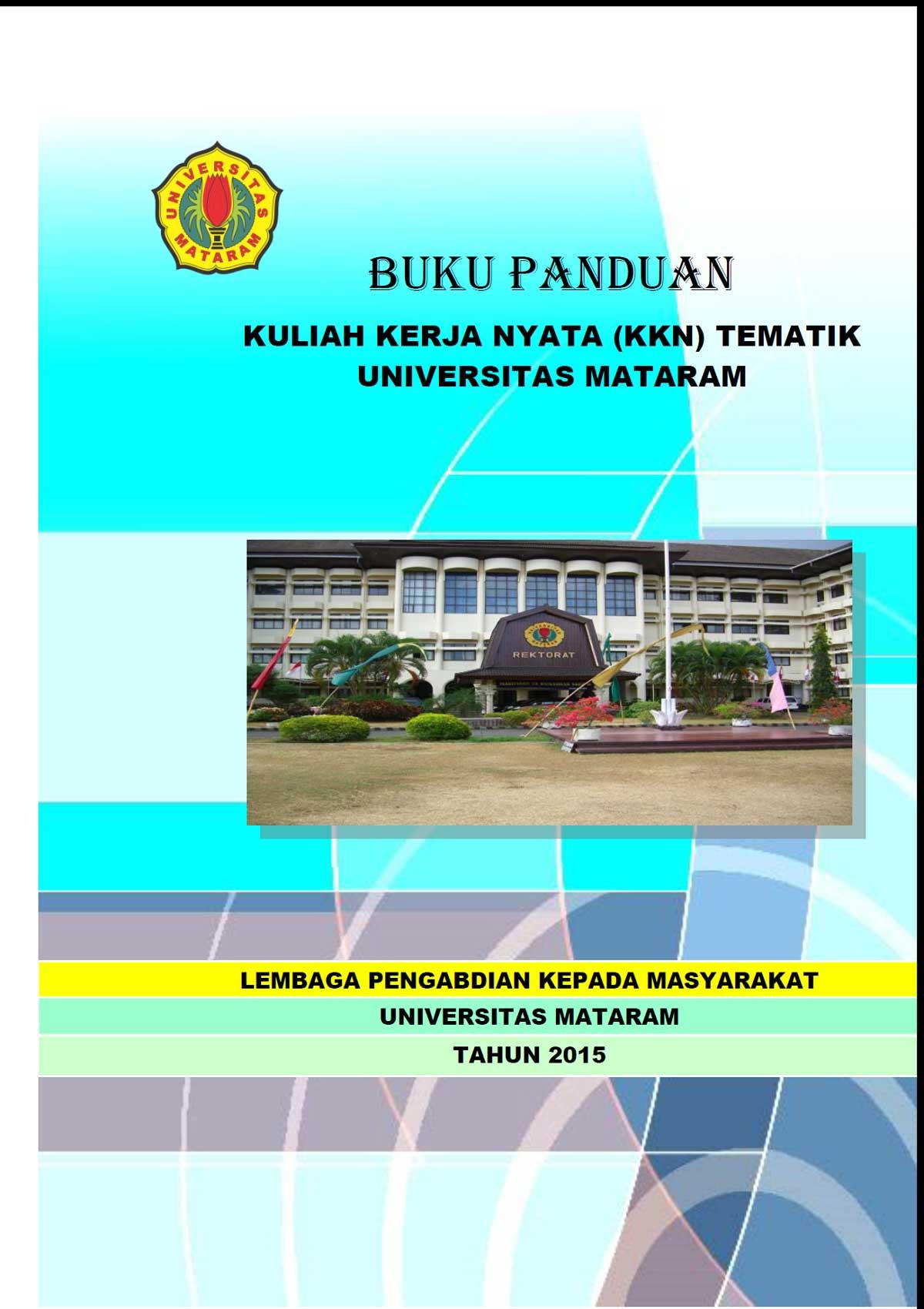 Buku Panduan Kuliah Kerja Nyata Kkn Tematik Universitas Mataram 2015 Lppm Unram
