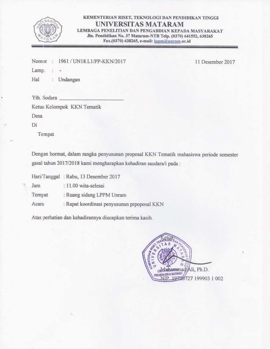 Surat Undangan Kordinasi 13des2017 Copy Copy Lembaga
