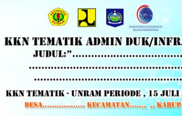 Spanduk KKN Tematik Universitas Mataram